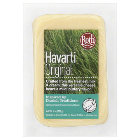 Roth Original Havarti Cheese, 6 Oz (Pack of 12)
