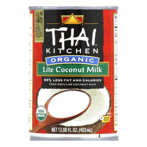Thai Kitchen Gluten Free Organic Lite Coconut Milk, 13.66 OZ (Pack of 12)