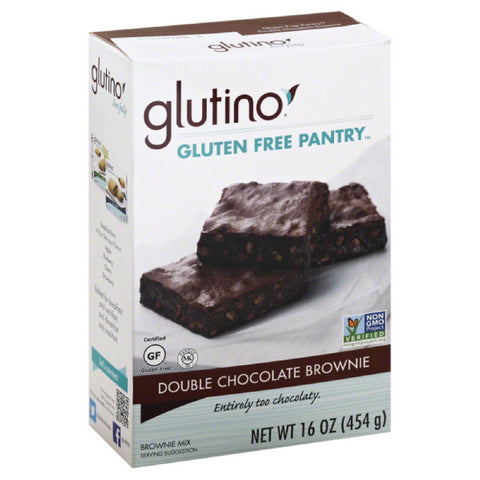 Glutino Double Chocolate Brownie Brownie Mix, 16 Oz (Pack of 6)