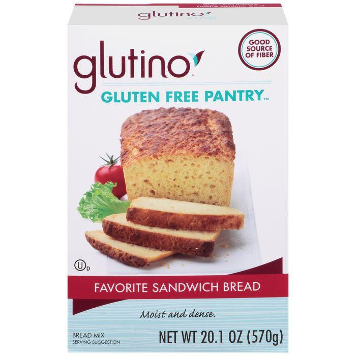 Glutino Gluten Free Pantry Favorite Sandwich Bread Baking Mix 20.1 Oz (Pack of 6)