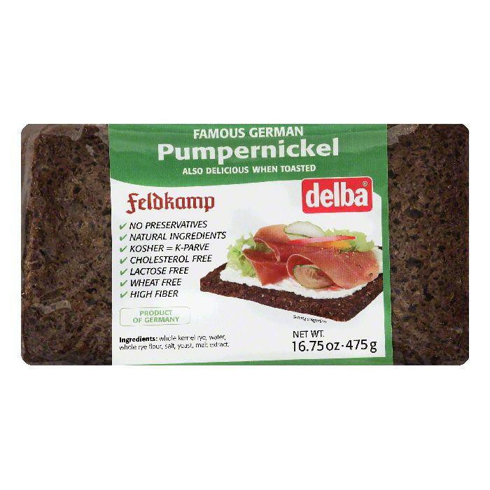 Delba Pumpernickel Bread, 16.75 OZ (Pack of 12)