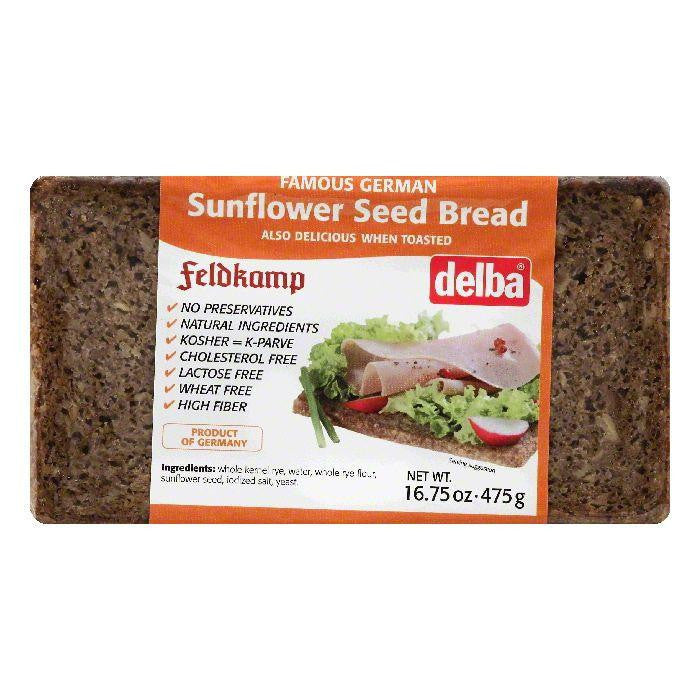 Delba Sunflower Seed Bread, 16.75 OZ (Pack of 12)