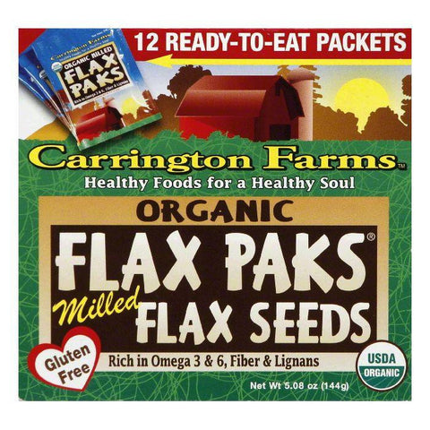 Carrington Tea Organic Mild Flax Pack Tea, 12 CT (Pack of 6)