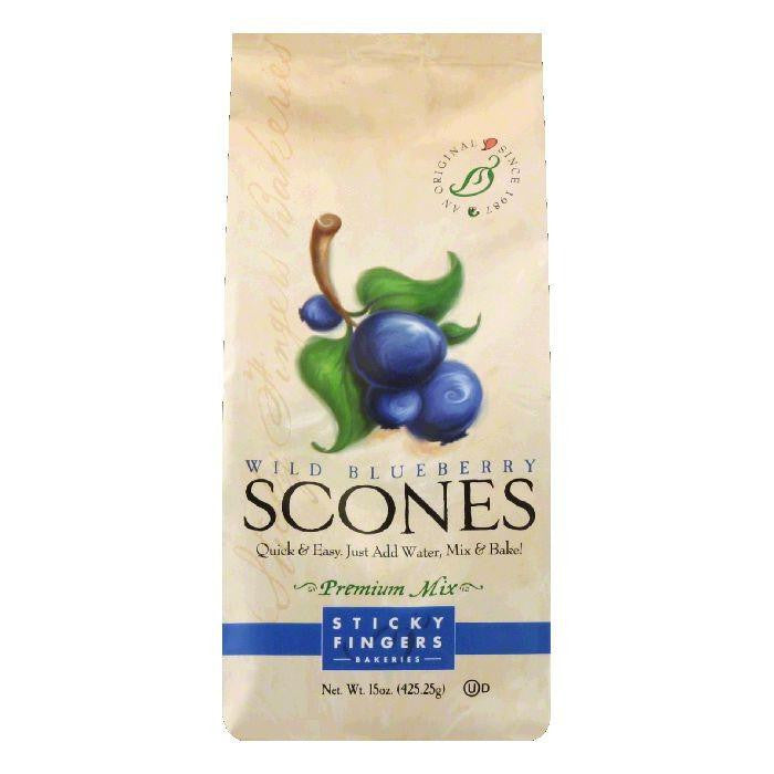 Sticky Fingers Scones Blueberry, 15 OZ (Pack of 6)