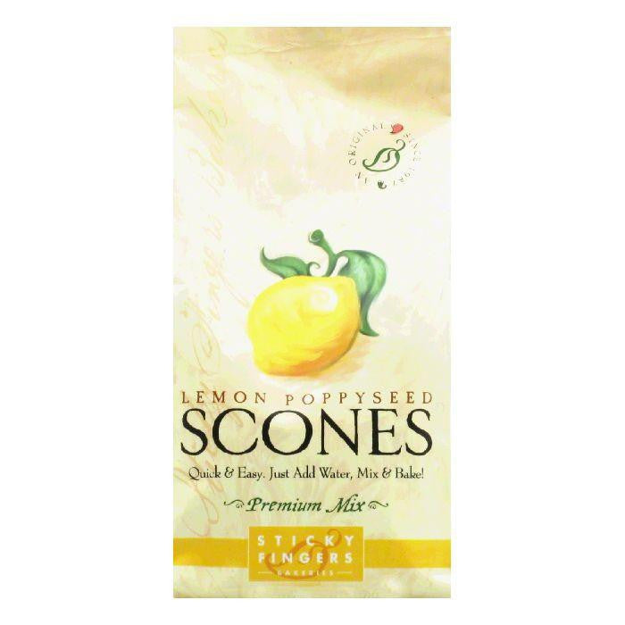 Sticky Fingers Scones Lemon Poppyseed, 15 OZ (Pack of 6)