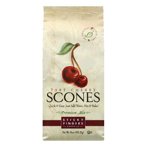Sticky Fingers Tart Cherry Scone Mix, 15 OZ (Pack of 6)