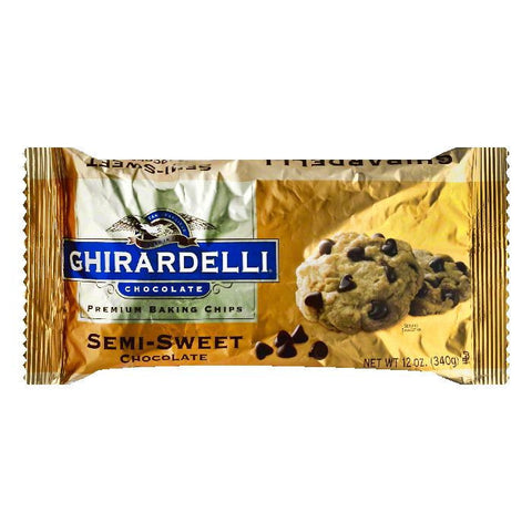 Ghirardelli Chocolate Chips Semi-Sweet, 12 OZ (Pack of 12)