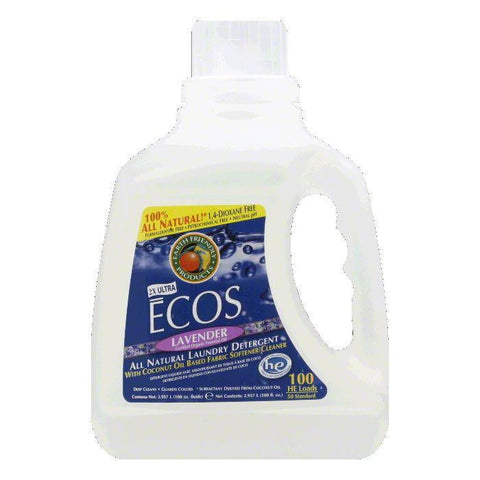 Earth Friendly Ecos Laundry Detergent Lavender, 100 OZ (Pack of 4)