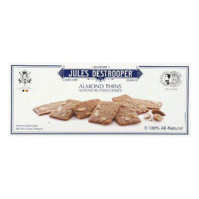Jules Destrooper Cookie Almond Thins, 3.5 OZ (Pack of 12)
