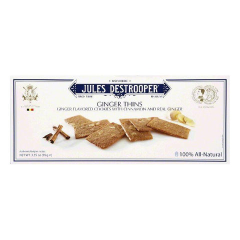 Jules Destrooper Jules Destrooper Ginger Thins, 3.35 OZ (Pack of 12)