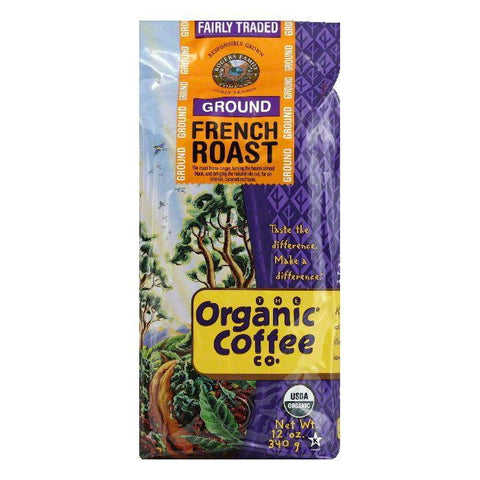 Organic Tea Co. Coffee Fair Trade French Roast Ground Organic, 12 OZ (Pack of 6)