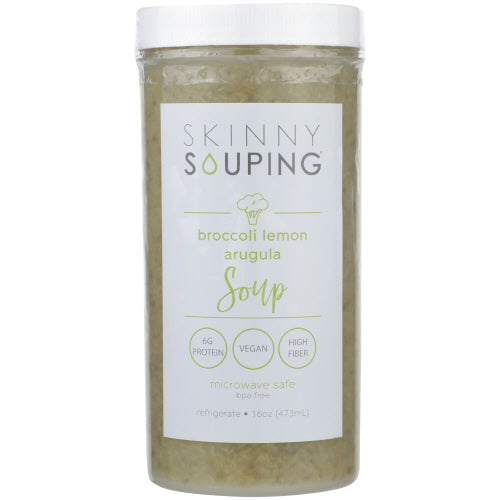 Skinny Souping, Broccoli Lemon & Arugula, 16oz (Pack of 6)