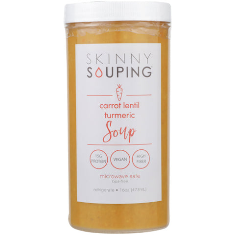 Skinny Souping, Carrot Lentil & Tumeric, 16oz (Pack of 6)