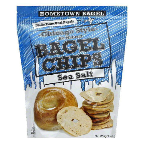 Hometown Bagel Sea Salt Bagel Chip, 6 OZ (Pack of 12)