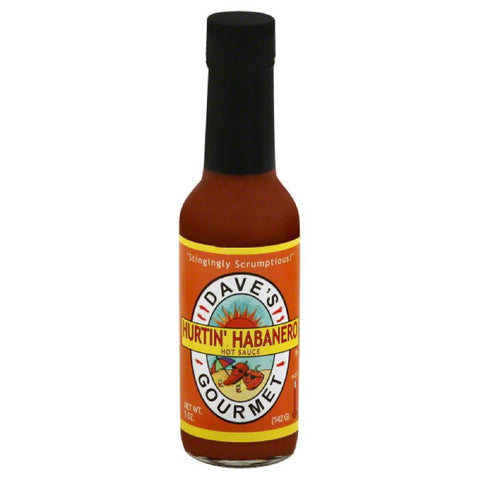 Daves Gourmet Hurtin' Habanero Hot Sauce, 5 Oz (Pack of 12)