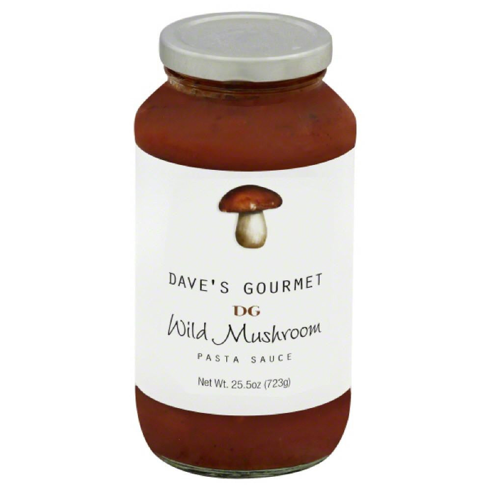 Daves Gourmet Pasta Sauce Wild Mushroom, 25.5 Oz (Pack of 6)