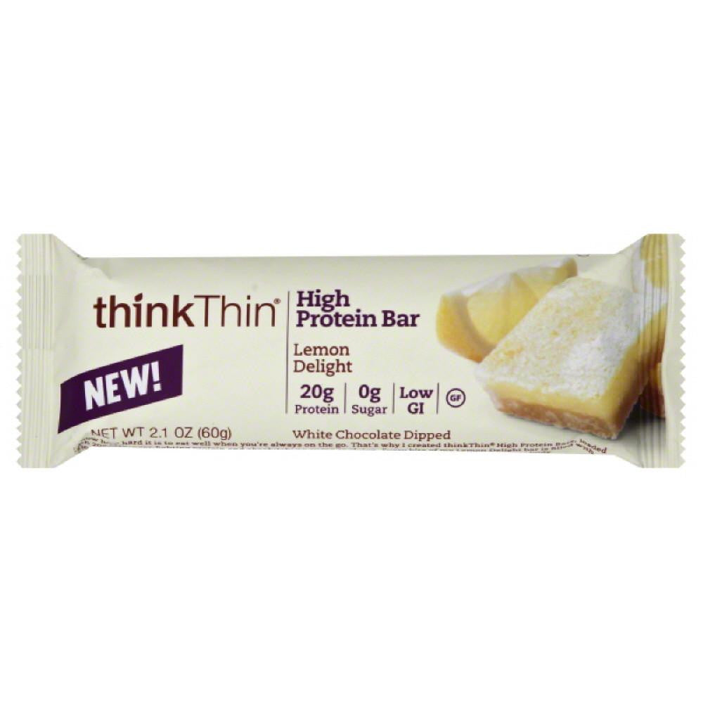 thinkThin Lemon Delight High Protein Bar, 2.1 Oz (Pack of 10)