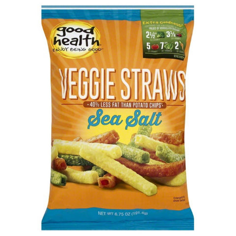 Good Health Sea Salt Veggie Straws, 6.75 Oz (Pack of 10)