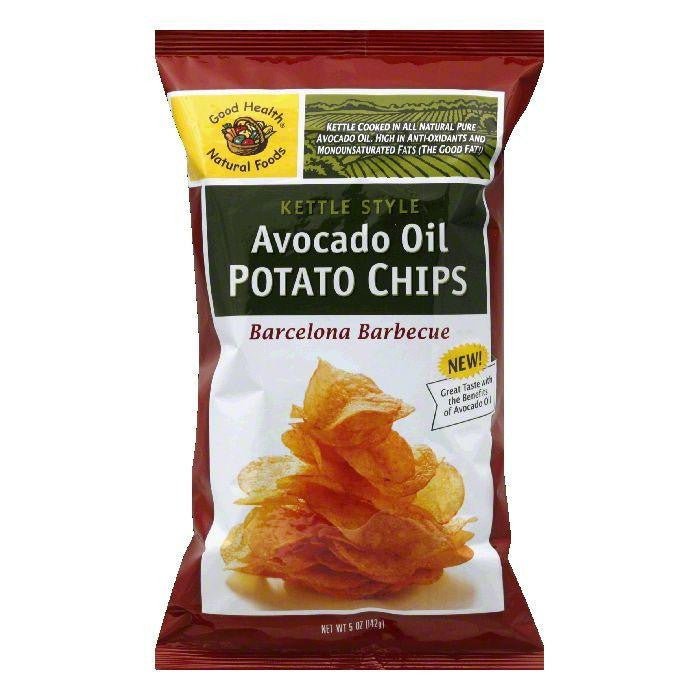 Good Health Barcelona Barbecue Kettle Style Avocado Oil Potato Chips, 5 OZ (Pack of 12)