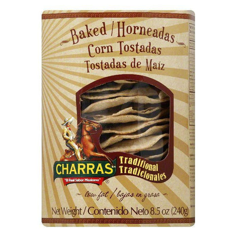 Charras Baked Corn Tostadas, 8.5 Oz (Pack of 8)