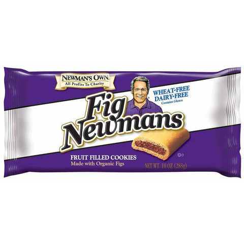 Newman's Own Organics Wheat Free & Dairy Free Fig Newman's, 10 OZ (Pack of 6)
