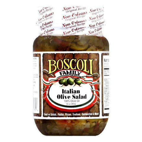 Boscoli Olive Salad Italian Oil, 16 OZ (Pack of 6)