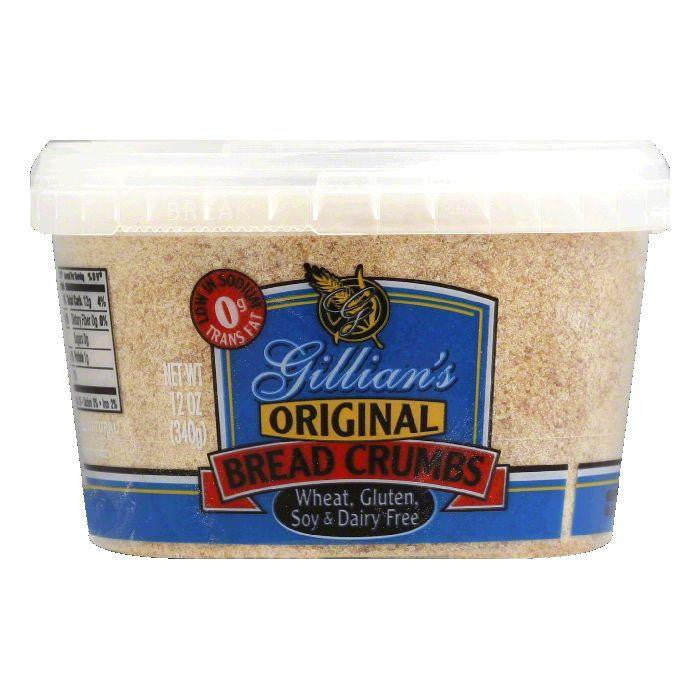 Gillian Foods Bread Crumbs Wheat Free Gluten Free Dairy Free, 12 OZ (Pack of 12)