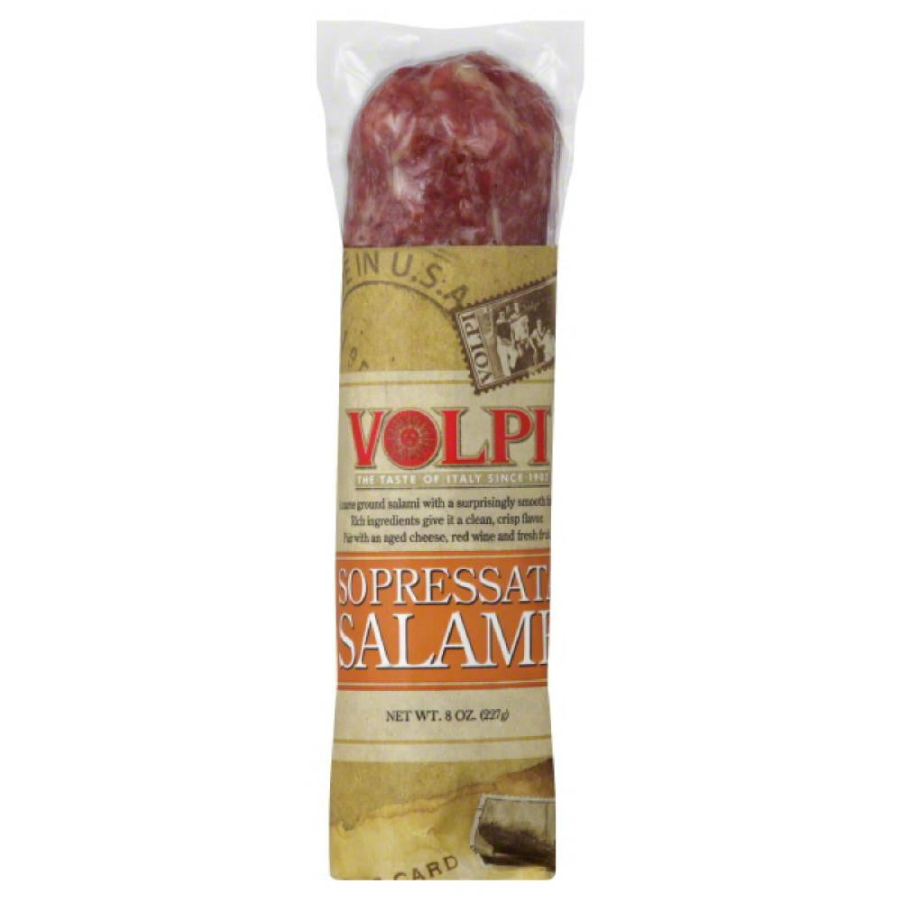 Volpi Sopressata Salame, 8 Oz (Pack of 12)