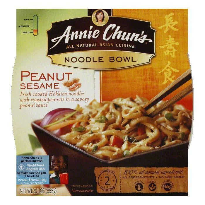Annie Chuns Noodle Bowl Peanut Sesame, 8.8 OZ (Pack of 6)