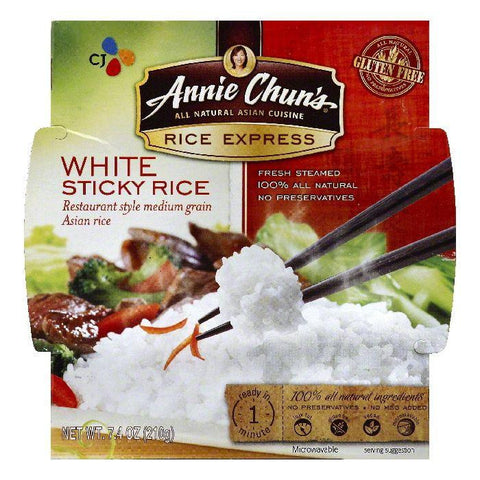 Annie Chuns White Sticky Rice, 7.4 OZ (Pack of 6)