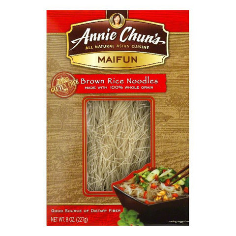 Annie Chuns Maifun Brown Rice Noodle, 8 OZ (Pack of 6)