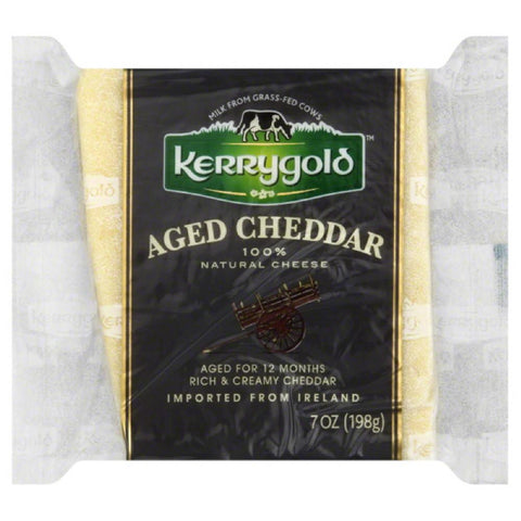 Kerrygold Aged Cheddar Cheese, 7 Oz (Pack of 24)