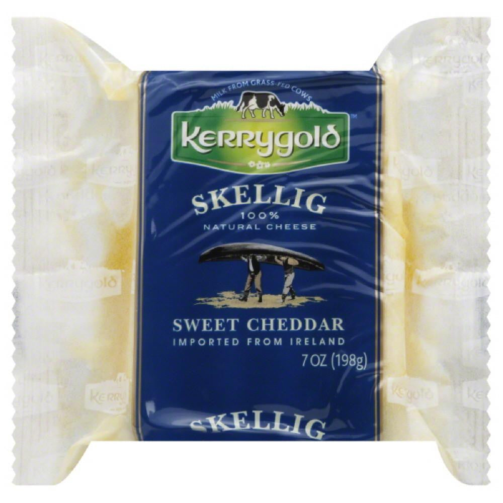 Kerrygold Sweet Cheddar Skellig Cheese, 7 Oz (Pack of 24)