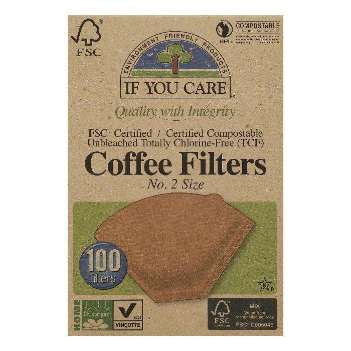 If You Care No. 2 Size Coffee Filters, 100 ea (Pack of 12)