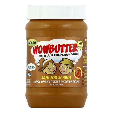 Wowbutter Creamy Toasted Soy Spread, 17.6 OZ (Pack of 6)