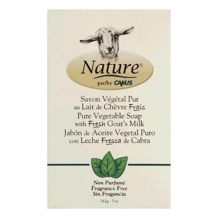 Canus with Fresh Goat's Milk Fragrance Free Pure Vegetable Soap, 5 Oz
