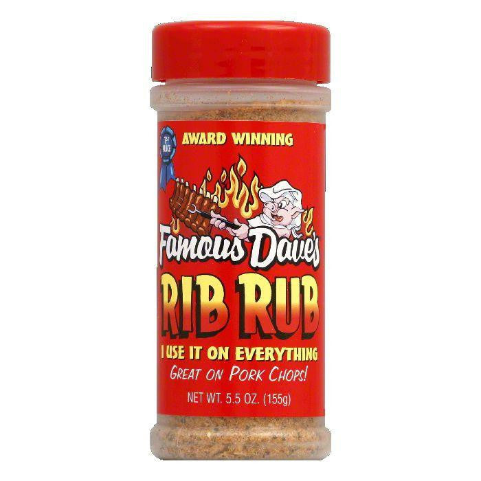Famous Dave's Seasoning Rib Rub, 5.5 OZ (Pack of 12)