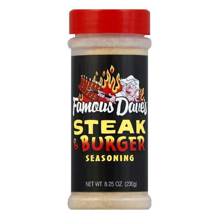 Famous Dave's Seasoning Steak & Burger, 8.25 OZ (Pack of 12)