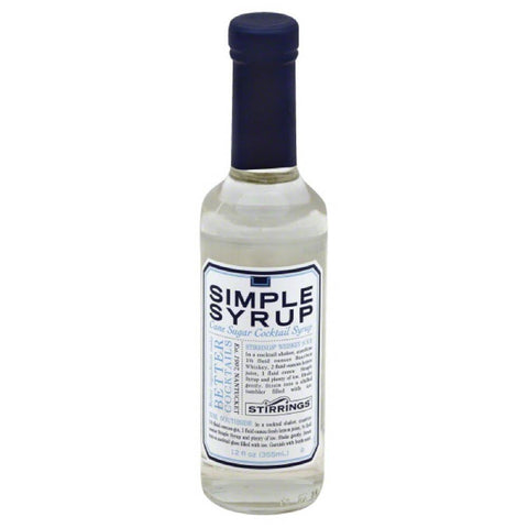 Stirrings Simple Syrup Cane Sugar Cocktail Syrup, 12 Oz (Pack of 6)