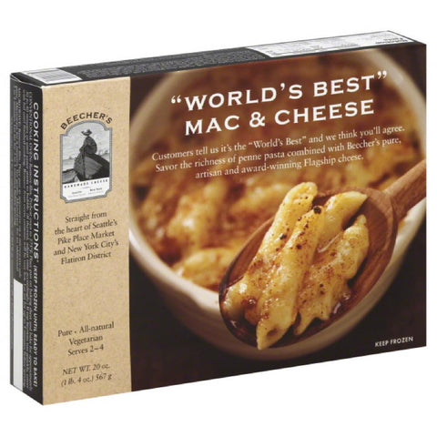 Beechers Mac & Cheese World's Best, 20 Oz (Pack of 8)