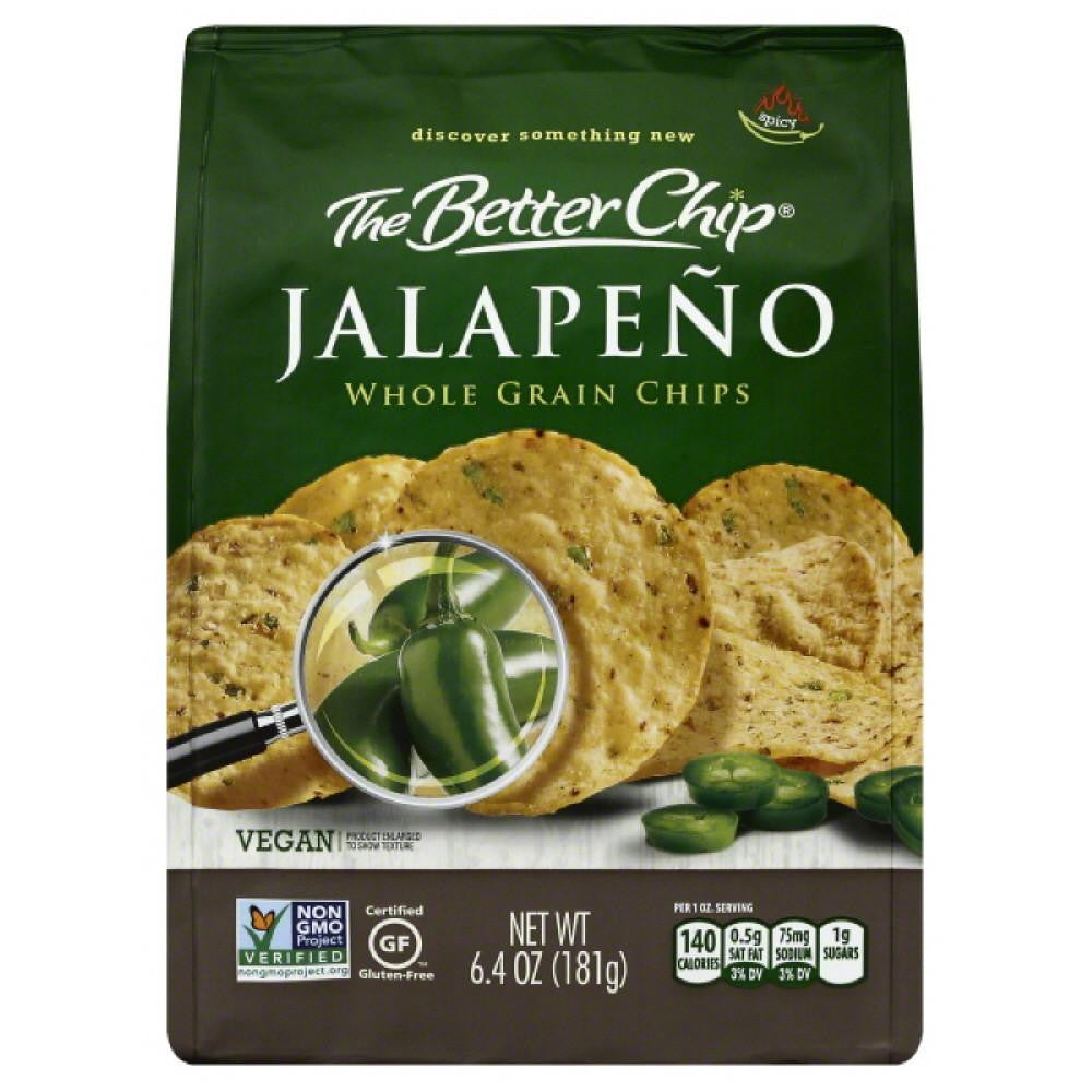 Better Chip Spicy Jalapeno Whole Grain Chips, 6.4 Bg (Pack of 12)