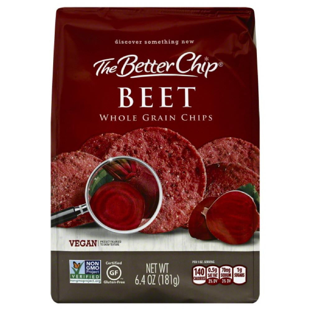 Better Chip Beet Whole Grain Chips, 6.4 Bg (Pack of 12)