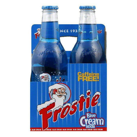 Frostie Naturals Blue Cream Soda 4 pack, 48 FO (Pack of 6)