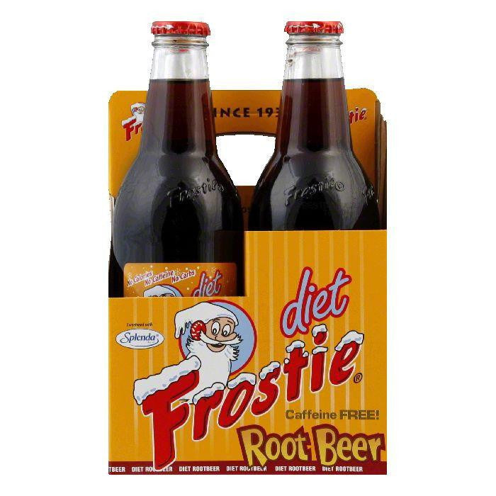 Frostie Root Beer Diet 4 pack, 48 FO (Pack of 6)