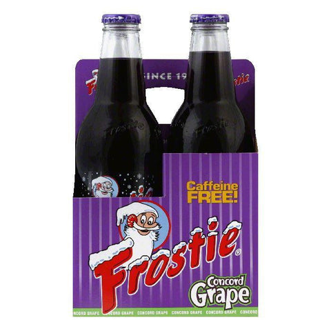 Frostie Naturals Concord Grape Soda 4 pack, 48 FO (Pack of 6)