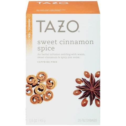 Tazo Sweet Cinnamon Spice Herbal Tea 20 ct. (Pack of 6)
