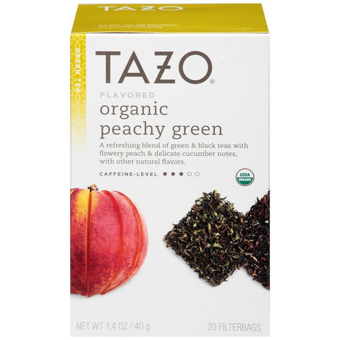 Tazo Organic Peachy Green Tea Tea Bags 20 ct