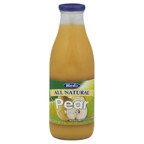 Hero Pear Nectar, 33.75 Fo (Pack of 6)