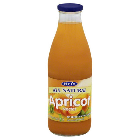Hero Apricot Nectar, 33.75 Fo (Pack of 6)