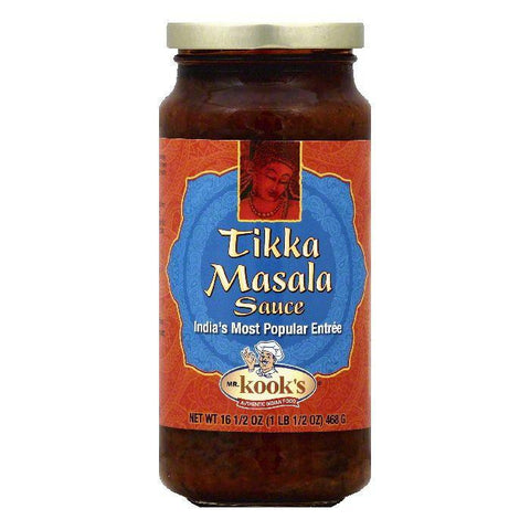 Mr Kooks Tikka Masala Sauce, 16.5 OZ (Pack of 6)